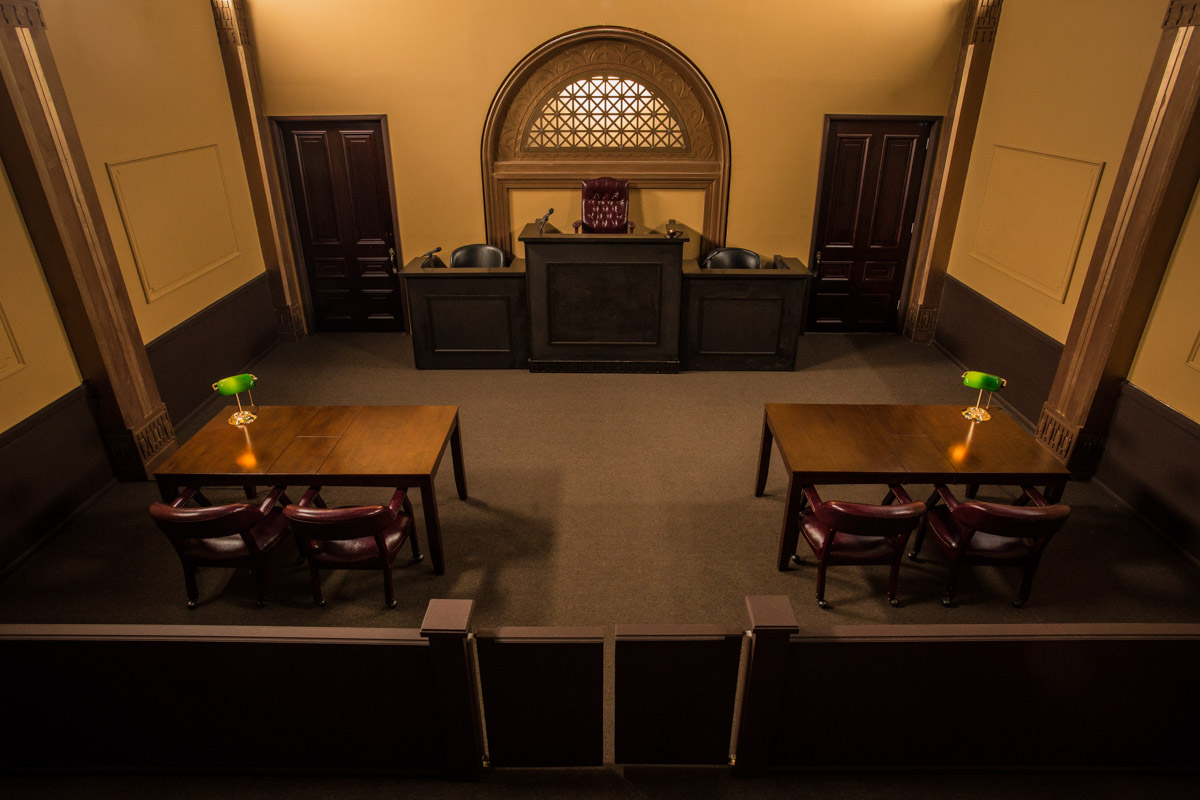 courtroom for film and photo