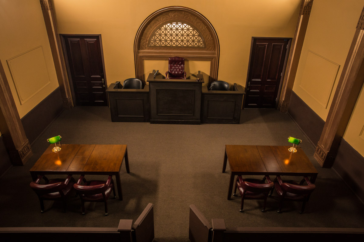 courtroom for filming